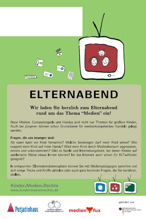 Grafik: Flyer Medienabend