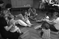 Foto: Am Kurs teilnehmende Familien